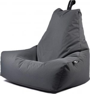 Extreme Lounging b-bag - Luxe zitzak - Indoor en outdoor - Waterafstotend - 95 x 95 x 90 cm - Polyester - Grijs