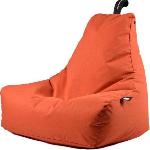Extreme Lounging b-bag - Luxe zitzak - Indoor en outdoor - Waterafstotend - 95 x 95 x 90 cm - Polyester - Oranje