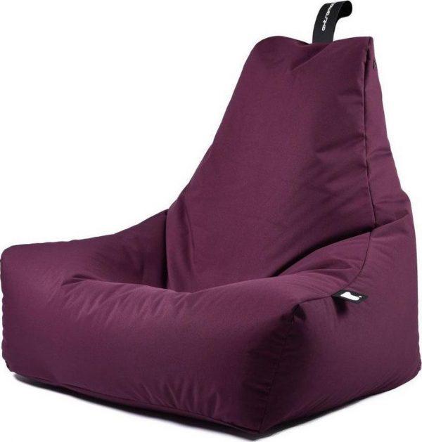 Extreme Lounging b-bag - Luxe zitzak - Indoor en outdoor - Waterafstotend - 95 x 95 x 90 cm - Polyester - Paars