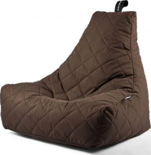 Extreme Lounging b-bag - Luxe zitzak - Indoor en outdoor - Waterafstotend - 95 x 95 x 90 cm - Polyester - Quilted Bruin