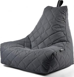 Extreme Lounging b-bag - Luxe zitzak - Indoor en outdoor - Waterafstotend - 95 x 95 x 90 cm - Polyester - Quilted Grijs
