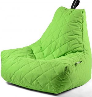 Extreme Lounging b-bag - Luxe zitzak - Indoor en outdoor - Waterafstotend - 95 x 95 x 90 cm - Polyester - Quilted Limegroen