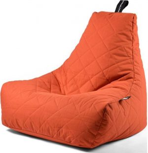 Extreme Lounging b-bag - Luxe zitzak - Indoor en outdoor - Waterafstotend - 95 x 95 x 90 cm - Polyester - Quilted Oranje