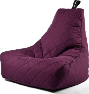 Extreme Lounging b-bag - Luxe zitzak - Indoor en outdoor - Waterafstotend - 95 x 95 x 90 cm - Polyester - Quilted Paars