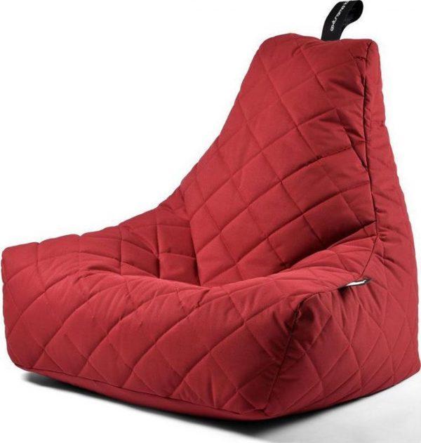 Extreme Lounging b-bag - Luxe zitzak - Indoor en outdoor - Waterafstotend - 95 x 95 x 90 cm - Polyester - Quilted Rood