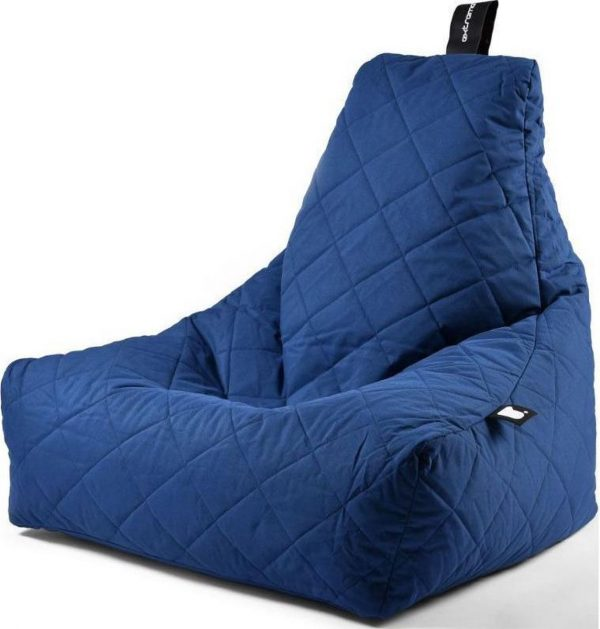 Extreme Lounging b-bag - Luxe zitzak - Indoor en outdoor - Waterafstotend - 95 x 95 x 90 cm - Polyester - Quilted Royal Blauw