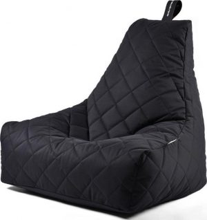 Extreme Lounging b-bag - Luxe zitzak - Indoor en outdoor - Waterafstotend - 95 x 95 x 90 cm - Polyester - Quilted Zwart