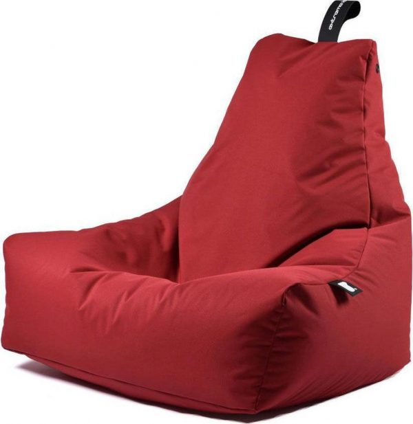Extreme Lounging b-bag - Luxe zitzak - Indoor en outdoor - Waterafstotend - 95 x 95 x 90 cm - Polyester - Rood