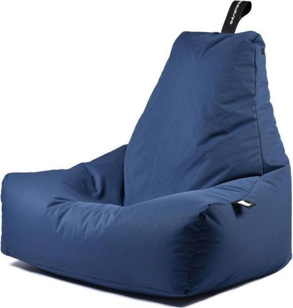 Extreme Lounging b-bag - Luxe zitzak - Indoor en outdoor - Waterafstotend - 95 x 95 x 90 cm - Polyester - Royal Blauw
