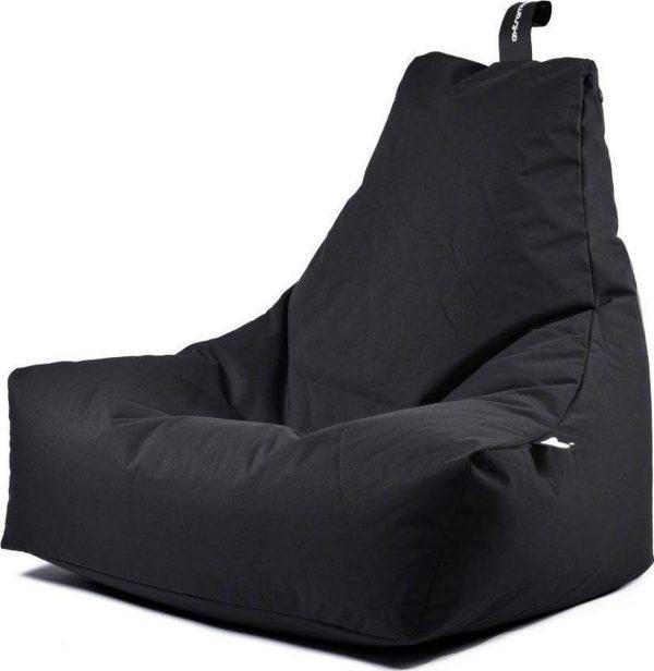 Extreme Lounging b-bag - Luxe zitzak - Indoor en outdoor - Waterafstotend - 95 x 95 x 90 cm - Polyester - Zwart