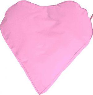 Whoober Hartvorm Zitzak Paris M outdoor roze - Wasbaar