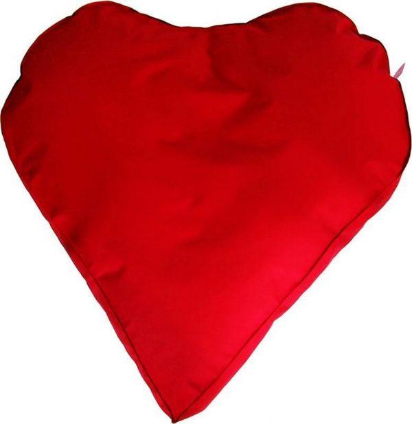 Whoober Hartvorm Zitzak Paris XL outdoor rood - Wasbaar