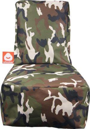 Whoober Kinder-zitzak Fiji outdoor camouflage - Wasbaar - Geschikt voor buiten