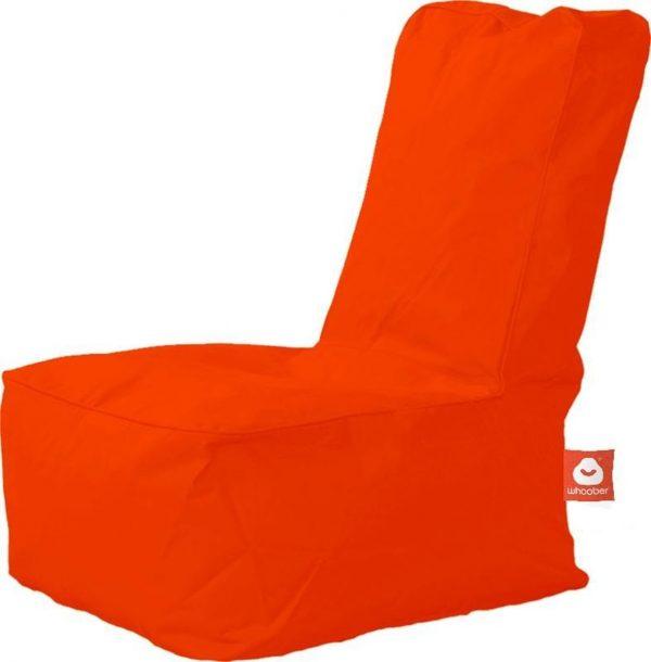 Whoober Kinder-zitzak Fiji outdoor donker oranje - Wasbaar - Geschikt voor buiten