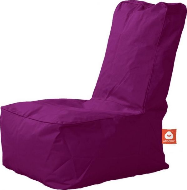 Whoober Kinder-zitzak Fiji outdoor paars - Wasbaar - Geschikt voor buiten