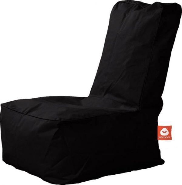 Whoober Kinder-zitzak Fiji outdoor zwart - Wasbaar - Geschikt voor buiten