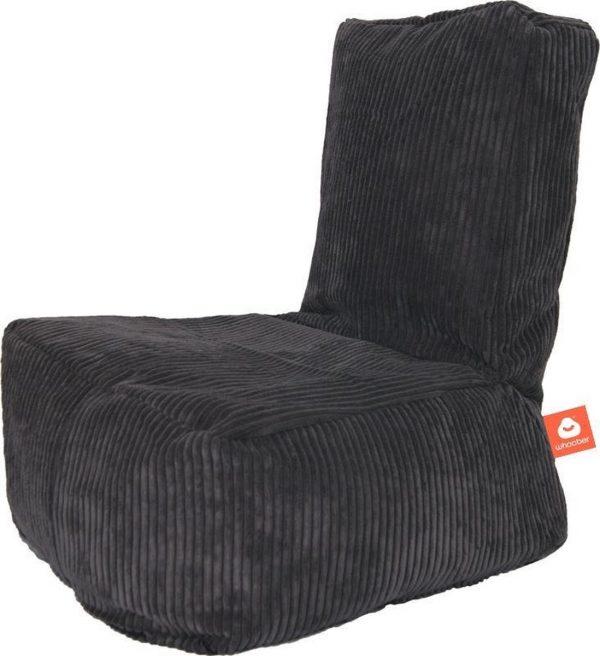 Whoober Kinder-zitzak Fiji ribcord antraciet - Wasbaar - Zacht en comfortabel