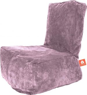 Whoober Kinder-zitzak Fiji ribcord paars - Wasbaar - Zacht en comfortabel