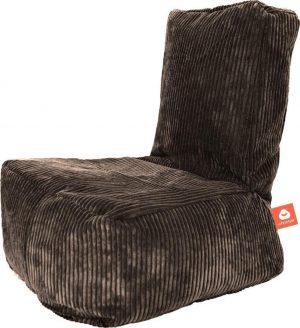 Whoober Kinder-zitzak Fiji ribcord taupe - Wasbaar - Zacht en comfortabel