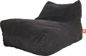 Whoober Lounge stoel zitzak Bali ribcord antraciet - zacht en comfortabel - Wasbaar