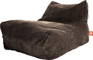 Whoober Lounge stoel zitzak Bali ribcord taupe - zacht en comfortabel - Wasbaar
