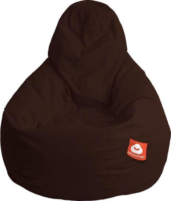 Whoober Peervorm Zitzak Barça outdoor donker bruin - Wasbaar - Geschikt voor buiten