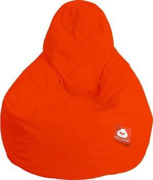 Whoober Peervorm Zitzak Barça outdoor donker oranje - Wasbaar - Geschikt voor buiten