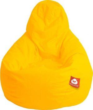 Whoober Peervorm Zitzak Barça outdoor geel - Wasbaar - Geschikt voor buiten