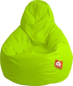 Whoober Peervorm Zitzak Barça outdoor limoen groen - Wasbaar - Geschikt voor buiten