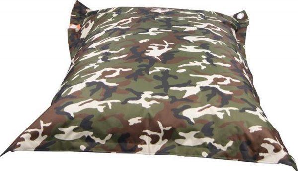 Whoober Rechthoek zitzak St. Tropez M outdoor camouflage - Wasbaar - Geschikt voor buiten