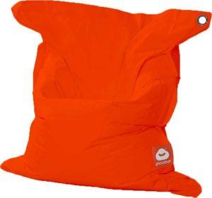 Whoober Rechthoek zitzak St. Tropez M outdoor donker oranje - Wasbaar - Geschikt voor buiten