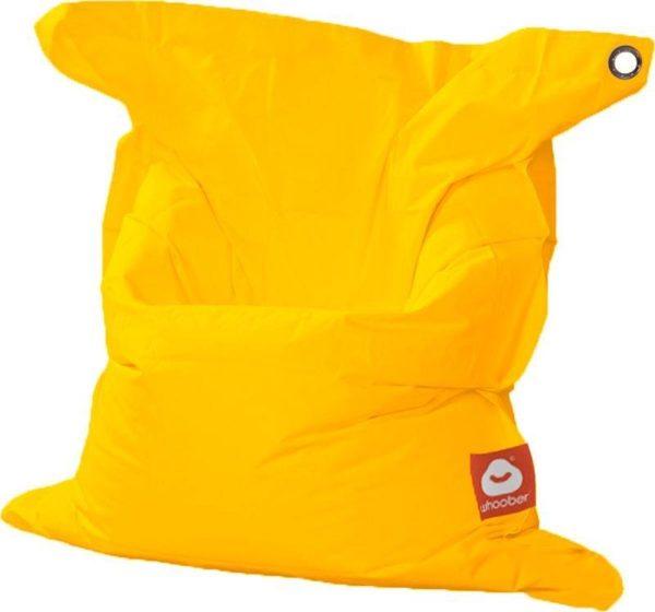 Whoober Rechthoek zitzak St. Tropez M outdoor geel - Wasbaar - Geschikt voor buiten