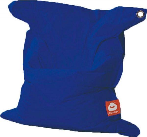 Whoober Rechthoek zitzak St. Tropez M outdoor kobalt blauw - Wasbaar - Geschikt voor buiten