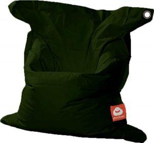 Whoober Rechthoek zitzak St. Tropez M outdoor leger groen - Wasbaar - Geschikt voor buiten