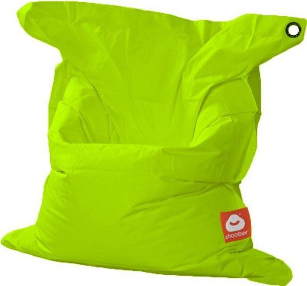 Whoober Rechthoek zitzak St. Tropez M outdoor limoen groen - Wasbaar - Geschikt voor buiten