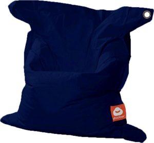 Whoober Rechthoek zitzak St. Tropez M outdoor marine blauw - Wasbaar - Geschikt voor buiten