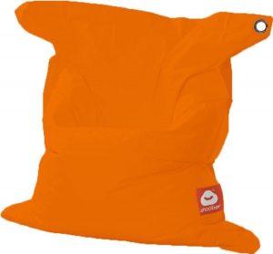 Whoober Rechthoek zitzak St. Tropez M outdoor oranje - Wasbaar - Geschikt voor buiten