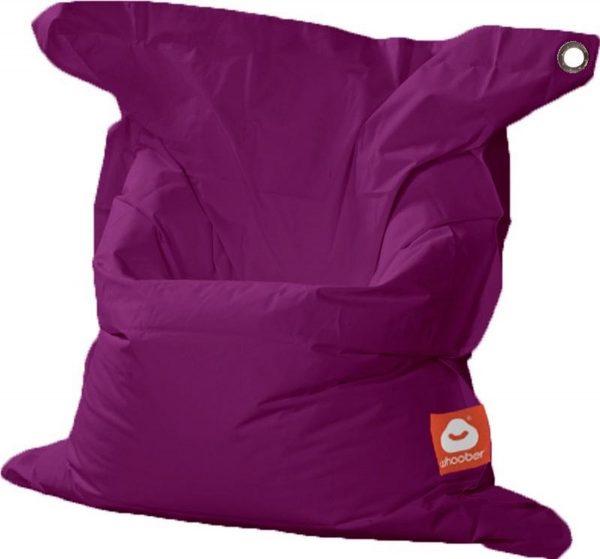 Whoober Rechthoek zitzak St. Tropez M outdoor paars - Wasbaar - Geschikt voor buiten