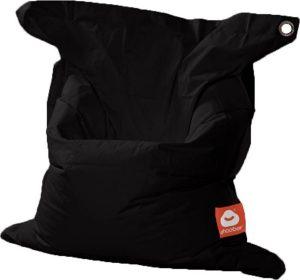 Whoober Rechthoek zitzak St. Tropez M outdoor zwart - Wasbaar - Geschikt voor buiten