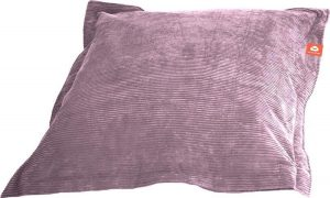 Whoober Rechthoek zitzak St. Tropez M ribcord paars - Wasbaar - Zacht en comfortabel