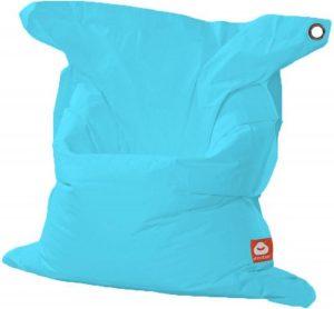 Whoober Rechthoek zitzak St. Tropez XL outdoor aqua blauw - Wasbaar - Geschikt voor buiten