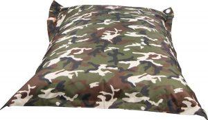 Whoober Rechthoek zitzak St. Tropez XL outdoor camouflage - Wasbaar - Geschikt voor buiten
