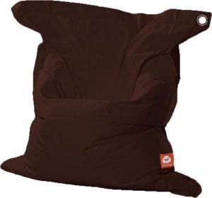 Whoober Rechthoek zitzak St. Tropez XL outdoor donker bruin - Wasbaar - Geschikt voor buiten