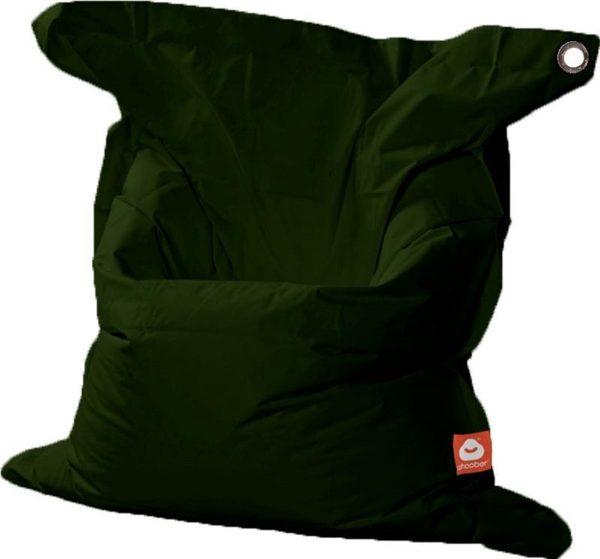 Whoober Rechthoek zitzak St. Tropez XL outdoor leger groen - Wasbaar - Geschikt voor buiten
