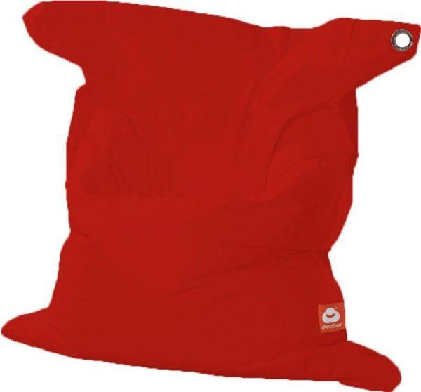 Whoober Rechthoek zitzak St. Tropez XL outdoor rood - Wasbaar - Geschikt voor buiten
