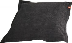 Whoober Rechthoek zitzak St. Tropez XL ribcord antraciet - Wasbaar - Zacht en comfortabel