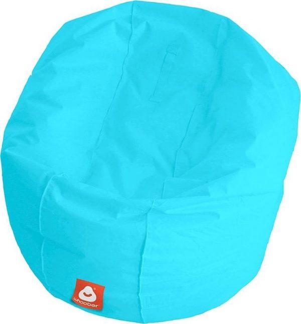 Whoober Ronde Zitzak Ibiza L outdoor aqua blauw - Wasbaar - Geschikt voor buiten