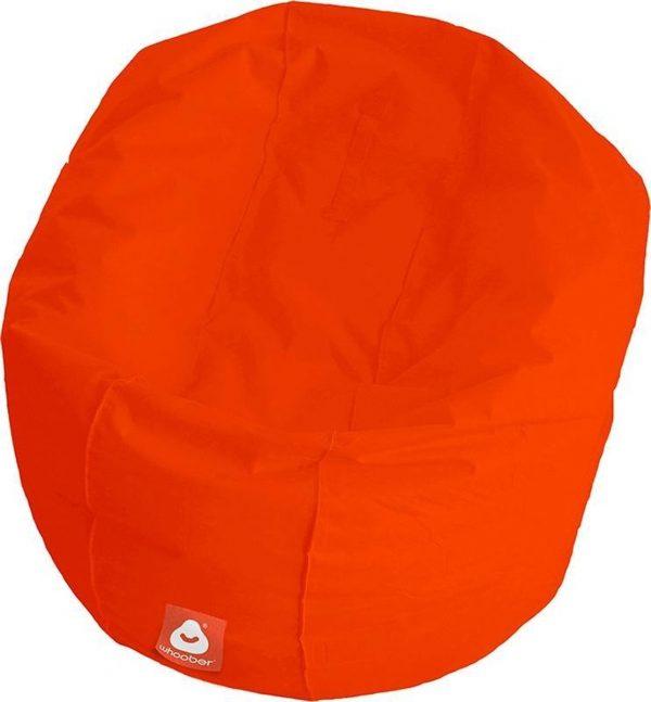 Whoober Ronde Zitzak Ibiza L outdoor donker oranje - Wasbaar - Geschikt voor buiten