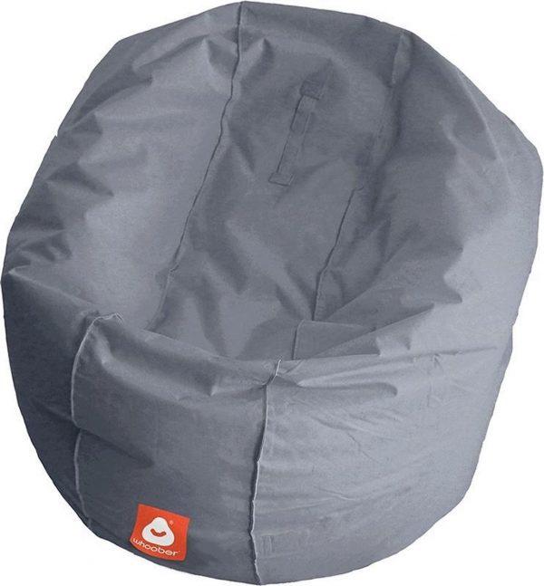 Whoober Ronde Zitzak Ibiza L outdoor grijs - Wasbaar - Geschikt voor buiten