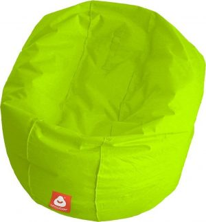 Whoober Ronde Zitzak Ibiza L outdoor limoen groen - Wasbaar - Geschikt voor buiten